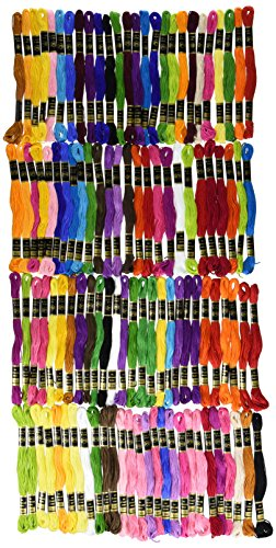Iris gestrandet Stickerei Floss Pack, 100% Baumwolle, mehrfarbig, 8m, 105Stück (100% Thread Quilting Cotton)