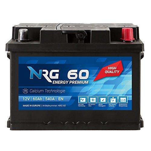 Preisvergleich Produktbild NRG Premium Autobatterie 12V 60Ah ersetzt 53AH 55AH 56AH 61AH 62AH Batterie