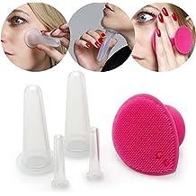 Lunata® Ventosas de masaje faciales de silicona, elimina las arrugas, mejora el colágeno y la elastina natural