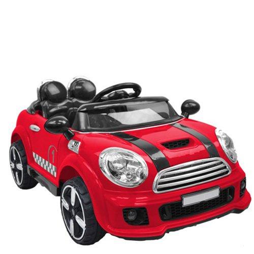 Auto elettriche 12V mini cooper per bambini. Macchina elettrica coupè per bambino colore rosso