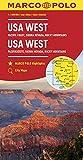 MARCO POLO Kontinentalkarte USA West 1:2 000 000: Pazifikküste, Sierra Nevada, Rocky Mountains (MARCO POLO Kontinental /Länderkarten) - Collectif