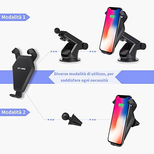 LOETAD-Caricatore-Wireless-Auto-Ricarica-Rapida-Portatile-Regolabile-a-360-Wireless-Auto-per-Note-8S8S8S7S7-EdgeS6-EdgeNote-5-Qi-Charging-Standard-per-iPhone-X88-Plus