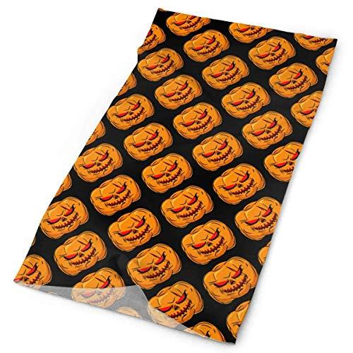Jolly2T Halloween Pumpkin Tube Bandanas Headwear Headband Magic Scarf Face Mask Neck Gaiter