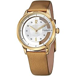 Stuhrling Original Winchester 946L Women's Quartz Watch with White Dial Analogue Display and Beige Leather Strap 946L.03
