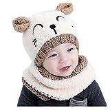 Neugeborene Baby Schal und Mütze Katze Muster, Transer® Babys Winter Warm Mützen & Schals 0–3Jahre Kinder Cute Hüte Mädchen & Jungen Warm Strick Wolle Kapuze Schals & Mützen