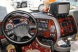MERIC Cockpit Dekor (CD-WU00115) Exclusive 3D Ausführung, 13 Teile, Farbe: Wurzelholz