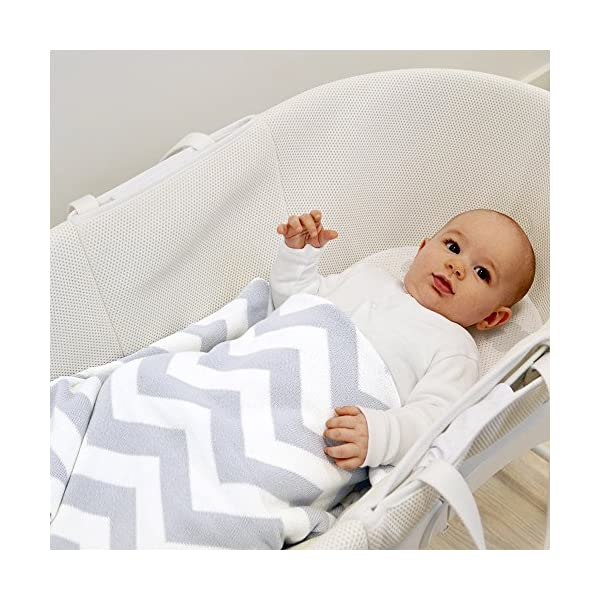 Shnuggle Dreami Moses Basket and Curve Rocking Stand - Pebble Grey  The perfect Moses Basket and Stand to keep baby close, day & night. Breathable 3D Mesh Covers and ventilated base for excellent airflow Quickly change from fixed to rocking position. 6