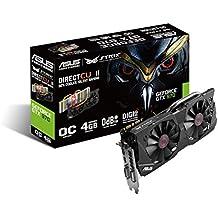 Asus Nvidia GeForce Strix GTX970-DC2OC-4GD5 Gaming Grafikkarte (PCI-e, 4GB GDDR5, Speicher, HDMI, DVI, DP, 1 GPU)