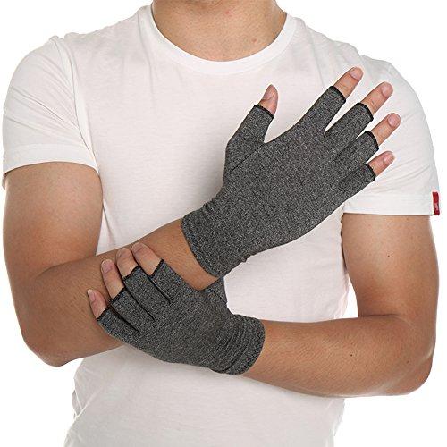 Arthritis-Kompressionshandschuhe, fingerlos, zur Linderung von Symptomen bei Arthritis, Raynaud-Krankheit, Sehnenscheidenentzündung, Arthrose, Karpaltunnelsyndrom und anderen Handbeschwerden -