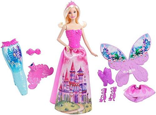 Mattel Barbie CFF48 - 3-in-1 Fantasie Barbie (Schöne Fee Flügel)
