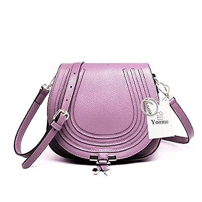 Yoome élégant sacs à bandoulière pour les femmes en cuir véritable embrayage pour les filles Cross Body selle sac à main pour les dames