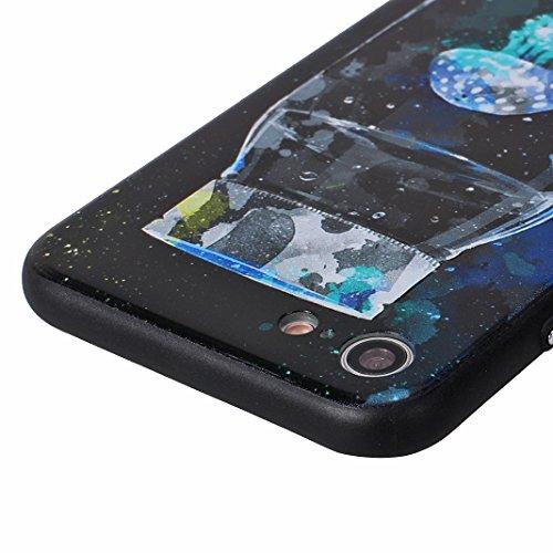 iPhone 7 Case mit Stand, iPhone 8 Hülle mit Stand, Moon mood® Handy Fall 2 in 1 Hybrid Schutzhülle für Apple iPhone 7 / iPhone 8 4.7 Zoll Hart PC + Weich TPU Silikon Ständer Schale Backcover Handytasc Muster 2