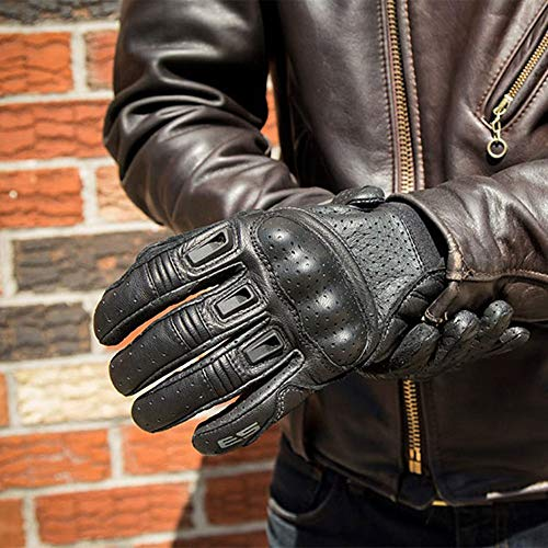 Berrd Bomber Premium Accesorios de Moto Guantes de Motociclista Resurrection Guantes de Motocross Racing Dirt 2 Breathing Leather Black M