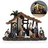 OULII Presepe religioso di Natale in un pezzo