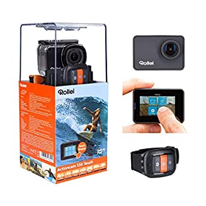 Rollei Actioncam 550 Touch Wifi Action Cam with Touch Screen and 4 K Video Resolution, Up to 40 meters Water Resistant – Includes Unterwasserschutzgehäuse and Remote Control
