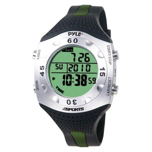 Pyle PSWDV60GN - Reloj digital deportivo, color negro / verde
