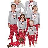 Riou Weihnachten Familie Pyjamas Outfits Set Nachtwäsche Schlafanzug Homewear für Kinder Mama Papa Baby Kleidung Set Kinder PJS Pullover Weihnachten Outfits Heimservice (XL, Mom)