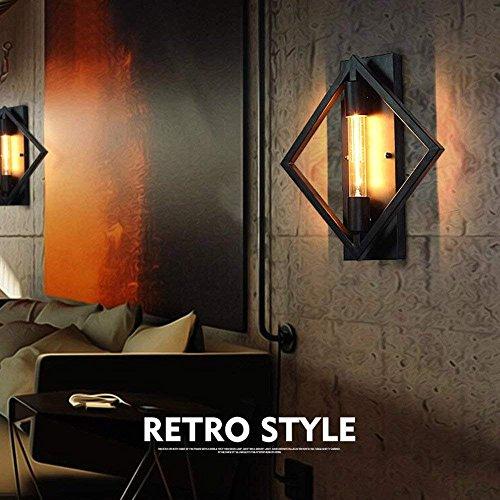 DEED Wandleuchte Korridor Aisle Schlafzimmer Persönlichkeit Eisen Retro Bar Square Bar Treppen Korridor Wand dekorative Lichter - Bronze Square Bars