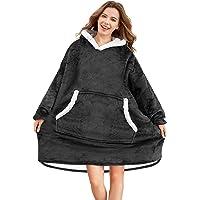 Hoodie Blanket, Super Soft Warm Wearable Blanket, Comfortable Giant Pocket Hoodie, Soft Plush Blanket Hoodie Fits All…
