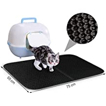 75*55cm Estera Almohadilla para Bandeja de arena Gatos Perros alfombra lavable Doble capa secado