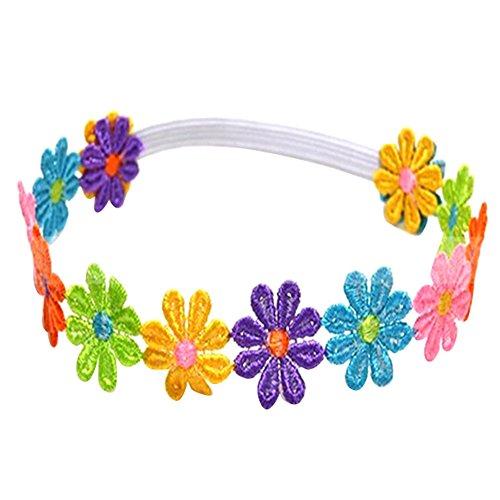 Sanwood Cute Baby Children Girl Colorful Flowers Hair Band Headband