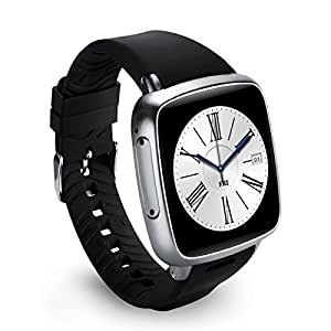 Wewoo Montre connectée Argent Smartwatch Phone, 4 Go + 512 Mo, écran Tactile capacitif