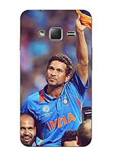 Make My Print Cricket Printed Blue Hard Back Cover For Samsung Z1