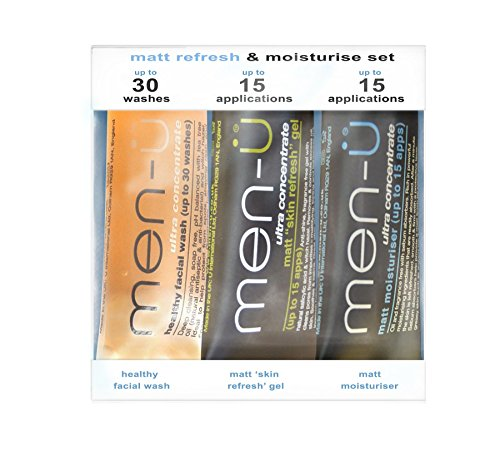 Matt Refresh & Moisturise Set: Healthy Facial Wash 15ml + Matt Skin Refresh Gel 15ml + Matt Moisturiser 15ml, 3pcs