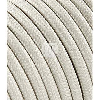 Textilkabel für Lampe 3 Meter 3 Adrig elfenbein ( 3x0,75mm2 ) SuperFlex | Textilummanteltes Stoffkabel zum bau dekorativer Textilkabellampen | Zuleitung für Lampe | elektrische Leitung | Pendelleuchten | Hängelampen