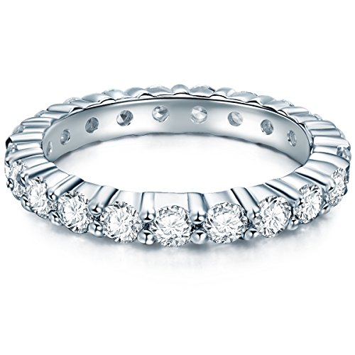Tresor 1934 anello da donna memoria / anelli da donna argento sterling 925 zirconia bianco taglio brillante - anello di fidanzamento richiesta di matrimonio