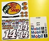 RC Nascar 'BASS PRO-SHOPS' STEWART stil Aufkleber Sticker Tamiya Xray TC5 Kyosho