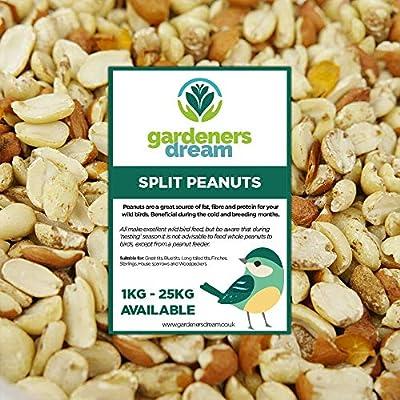 GardenersDream Split Peanuts - Fresh Premium Wild Bird Seed Garden Food Nut Feed by GardenersDream