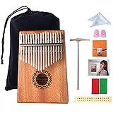 Kalimba 17 Tasti Finger Piano Thumb Strumento Musicale Tradizionale con Accessori e Istruzione