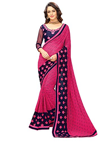 Online Fayda Women\'s Georgette Saree (Of221_Pink)