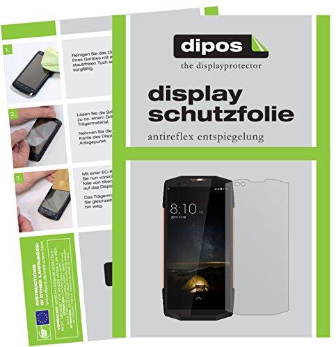 dipos I 6X Schutzfolie matt passend für Blackview BV9000 Pro Folie Bildschirmschutzfolie