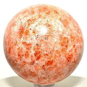 Sonnenstein, Kugel, Feldspat, Kristall, Edelstein, poliert, Quarz, von Healing Crystals India, Indien