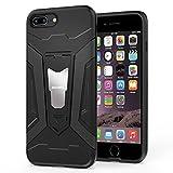 HOOMIL iPhone 8 Plus Hülle,iPhone 7 Plus Hülle Schwarz Armor Stoßfest Handyhülle für Apple iPhone 7 Plus/iPhone 8 Plus Silikon TPU Bumper Cover mit Ständer Schutzhülle Case - Black (H3248)