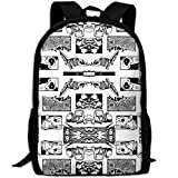 fsfsdafsaBags Gamer Toons Giftwrap 3D Print Zaino da viaggio College School Laptop Bag Daypack Travel Shoulder Bag For Unisex
