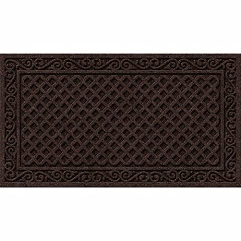 Textures Iron Lattice Entrance Mat, 20-Inch by 36-Inch, Walnut
