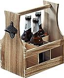 Kesper 69266 13 - Portabottiglie in legno, colore: Marrone