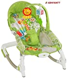 #9: Abhiyantt Newly Born To Toddler Portable Rocker Bouncer Cum Swing Chair With Soothing Vibration & A Musical Toy Stimulates Senses And Develops Motor Skills