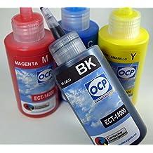 Tinta marca OCP para recarga de impresoras tipo Eco Tank ET-14000 de EPSON