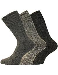 Kato Herren, nicht elastisch, Wolle, grob, kurz-Pack Thermo-Socken, 12