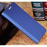 Prevoa ® 丨HUAWEI Y635 Funda - Flip Cover Case para HUAWEI Y635 5.0 Pulgadas Smartphone - Azul Oscuro
