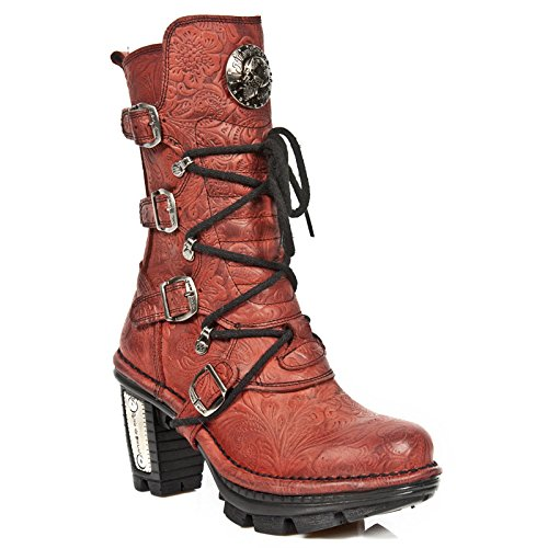 New Rock M Neotr005 S14, Bottes femme Rouge (Drama Alaska Rojo/Drama Alaska R)