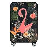 Bestja Elástico Funda Protectora de Maleta Luggage Protective Cover, Lavabile Viaje Equipaje Cubierta Carretilla Caso Protectora Cubierta Cabe 18-32 Pulgadas Equipaje (Flamencos 3, L)