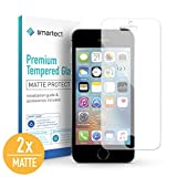smartect Mattes Panzerglas für iPhone SE / 5 / 5s / 5c [2X MATT] - Bildschirmschutz mit 9H Härte - Blasenfreie Schutzfolie - Anti Fingerprint Panzerglasfolie