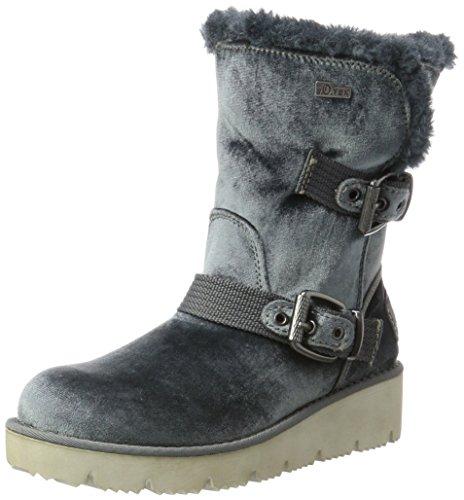 Stiefel, Grau (Steel), 38 EU (Damen Grau Keil Stiefel)