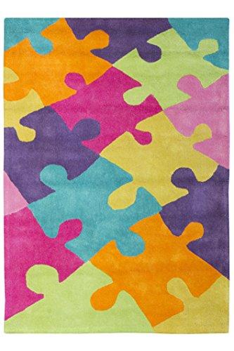 Jute Co & Alfombra para habitación de los niños y de los adolescentes Taftato, algodón, multicolor, 100 cm x 140 cm