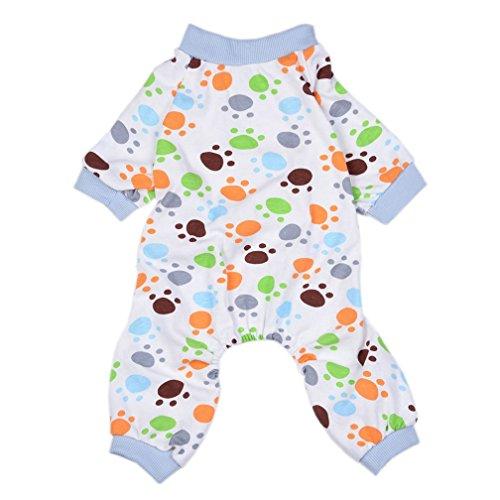 alkyoneus Liebenswürdig, Hund Pfoten Klauen Schlafanzüge Nachtwäsche Cozy Weich Haustier Kleidung (Kostüme Einfache Tag Zeichen)